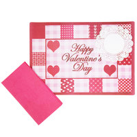 Hoffmaster 856781 10 inch x 14 inch Valentine's Day Placemat Combo Pack - 250/Case