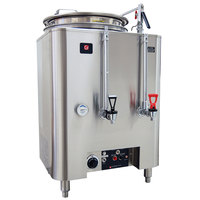 Grindmaster A80110(E) Single Space Saver 10 Gallon Heat Exchange Coffee Urn - 120/208/240V, 3 Phase, 15 kW