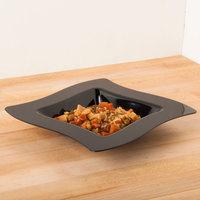Fineline Wavetrends 105-BK Black Plastic Bowl 5 oz. - 120/Case