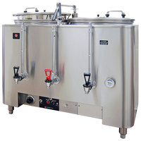 Grindmaster A8106(E) Twin Space Saver 6 Gallon Heat Exchange Coffee Urn - 120/208/240V, 3 Phase, 15 kW