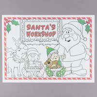 Hoffmaster 311144 10 inch x 14 inch Kids Santa's Workshop Interactive Paper Placemat - 1000/Case
