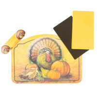 Hoffmaster 856793 10 inch x 14 inch Thanksgiving Placemat Combo Pack - 250/Case