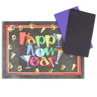 Hoffmaster 856798 10 inch x 14 inch New Year's Placemat Combo Pack   - 250/Case