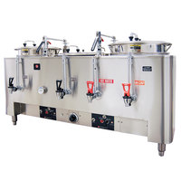 Grindmaster A83010(E) Triple Space Saver 10 Gallon Heat Exchange Coffee Urn - 120/208/240V, 3 Phase, 15 kW