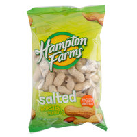 Hampton Farms 8 oz. Salted In-Shell Peanuts - 36/Case