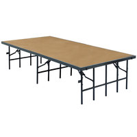 National Public Seating S488HB Single Height Hardboard Portable Stage - 48 inch x 96 inch x 8 inch