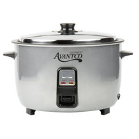 Avantco RC23161 46 Cup (23 Cup Raw) Electric Rice Cooker / Warmer - 120V, 1650W