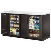 True TBB-3G-HC-LD 69 inch Glass Door Back Bar Refrigerator with LED Lighting