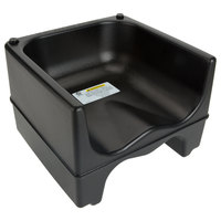 Lancaster Table & Seating Black Dual Height Plastic Booster Seat