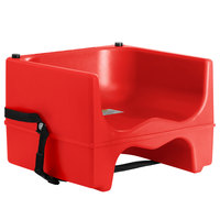 Lancaster Table & Seating Red Dual Height Plastic Booster Seat with Strap
