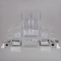 Crathco 5112 Double 5 Gallon Refrigerated Beverage Dispenser Bowl and Drip Tray Assembly Kit