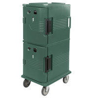 Cambro UPCH800192 Ultra Camcart® Granite Green Electric Hot Food Holding Cabinet in Fahrenheit - 110V