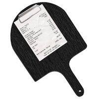 Menu Solutions WDPPCP 9 inch x 5 inch Customizable Black Pizza Peel Clipboard Check Presenter