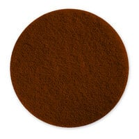 Pacific 973001 6 1/2 inch Brown Mini Floor Stripping Pad - 10/Case