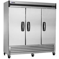 Master-Bilt MBR72-S 78 inch Fusion Solid Door Reach-In Refrigerator