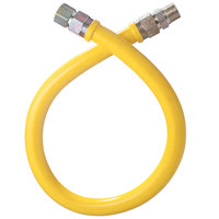 Dormont 1675NPFS60 60 inch Stainless Steel Stationary Foodservice Gas Connector Hose - 3/4 inch Diameter