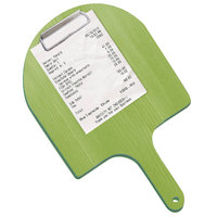 Menu Solutions WDPPCP 9 inch x 5 inch Customizable Lime Pizza Peel Clipboard Check Presenter