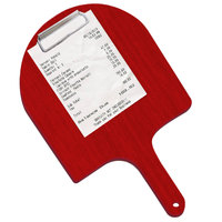 Menu Solutions WDPPCP 9 inch x 5 inch Customizable Berry Pizza Peel Clipboard Check Presenter