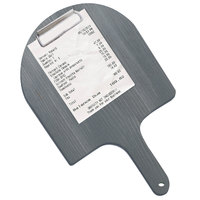 Menu Solutions WDPPCP 9 inch x 5 inch Customizable Ash Pizza Peel Clipboard Check Presenter