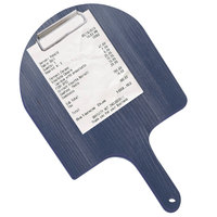 Menu Solutions WDPPCP 9 inch x 5 inch Customizable Denim Pizza Peel Clipboard Check Presenter