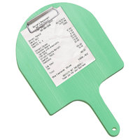 Menu Solutions WDPPCP 9 inch x 5 inch Customizable Washed Teal Pizza Peel Clipboard Check Presenter