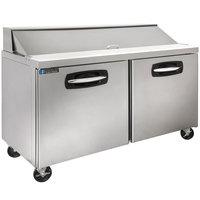 Master-Bilt MBSP60-16A 60 inch 2 Door Refrigerated Sandwich Prep Table