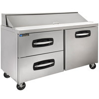 Master-Bilt MBSP60-16A-003 60 inch 1 Right Door 2 Drawer Refrigerated Sandwich Prep Table