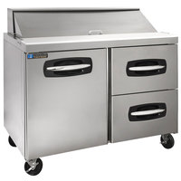 Master-Bilt MBSP48-12A-002 48 inch 1 Left Door 2 Drawer Refrigerated Sandwich Prep Table