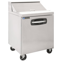 Master-Bilt MBSP27-8A 28 inch 1 Door Refrigerated Sandwich Prep Table