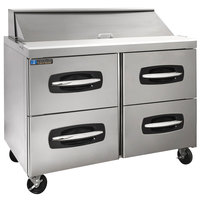 Master-Bilt MBSP48-12A-001 48 inch 4 Drawer Refrigerated Sandwich Prep Table