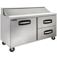 Master-Bilt MBSP60-16A-002 60 inch 1 Left Door 2 Drawer Refrigerated Sandwich Prep Table