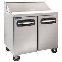 Master-Bilt MBSP36-10A 36 inch 2 Door Refrigerated Sandwich Prep Table