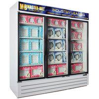 Master-Bilt MBGFP74-HG-W Fusion Plus 78 inch White Glass Door Merchandiser Freezer with LED Lighting