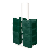 Koala Kare KB120SM-06 Small Booster Buddy Stand with 10 Green Plastic Booster Seats