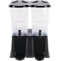 Carlisle 1085703 Black TrimLine 6 Gallon Economy Double Base Beverage Dispenser