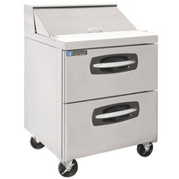 Master-Bilt MBSP27-8A-001 28 inch 2 Drawer Refrigerated Sandwich Prep Table