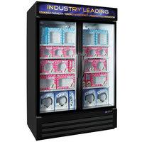 Master-Bilt MBGFP48-HG-B Fusion Plus 52 inch Black Glass Door Merchandiser Freezer with LED Lighting