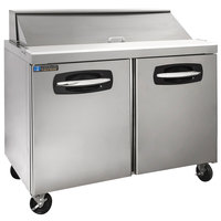 Master-Bilt MBSP48-12A 48 inch 2 Door Refrigerated Sandwich Prep Table
