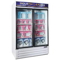 Master-Bilt MBGFP48-HG-W Fusion Plus 52 inch White Glass Door Merchandiser Freezer with LED Lighting