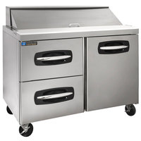 Master-Bilt MBSP48-12A-003 48 inch 1 Right Door 2 Drawer Refrigerated Sandwich Prep Table