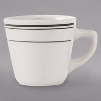 Tuxton TGB-001 Green Bay 7 oz. China Tall Cup - 36/Case