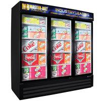 Master-Bilt MBGRP74-HG-B Fusion Plus 78 inch Black Glass Door Refrigerated Merchandiser