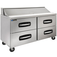 Master-Bilt MBSP60-16A-001 60 inch 4 Drawer Refrigerated Sandwich Prep Table