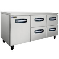 Master-Bilt MBUR72A-006 72 inch Fusion Undercounter Refrigerator with 1 Left Door and 4 Right Drawers