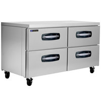 Master-Bilt MBUR60A-001 60 inch Fusion Undercounter Refrigerator with 4 Drawers