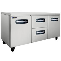 Master-Bilt MBUR72A-004 72 inch Fusion Undercounter Refrigerator with 2 Side Doors and 2 Middle Drawers