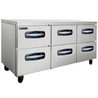 Master-Bilt MBUR72A-001 72 inch Fusion Undercounter Refrigerator with 6 Drawers