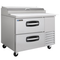 Master-Bilt MBPT44-001 44 inch 2 Drawer Refrigerated Pizza Prep Table