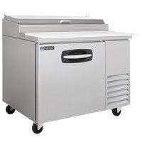 Master-Bilt MBPT44 44 inch 1 Door Refrigerated Pizza Prep Table