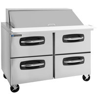Master-Bilt MBSMP48-18A-001 48 inch 4 Drawer Mega Top Refrigerated Sandwich Prep Table